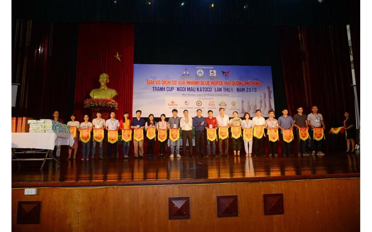 Giải vô địch cờ vua nhanh Blue Horse Hải Dương mở rộng tranh cúp Ngói màu KATOCO lần thứ I năm 2019